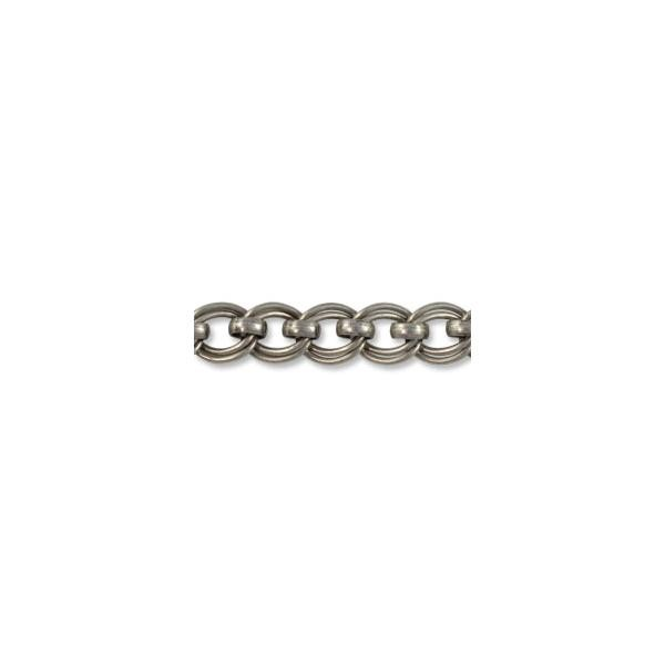 Double Link Chain 6mm Antique Silver Plated (Priced per Foot)