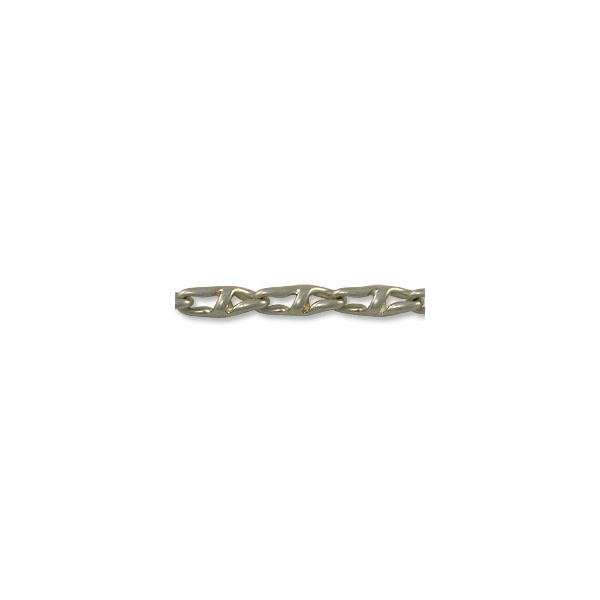 Chain Twisted Anchor Link 4mm Antique Silver Plated (Priced per Foot)