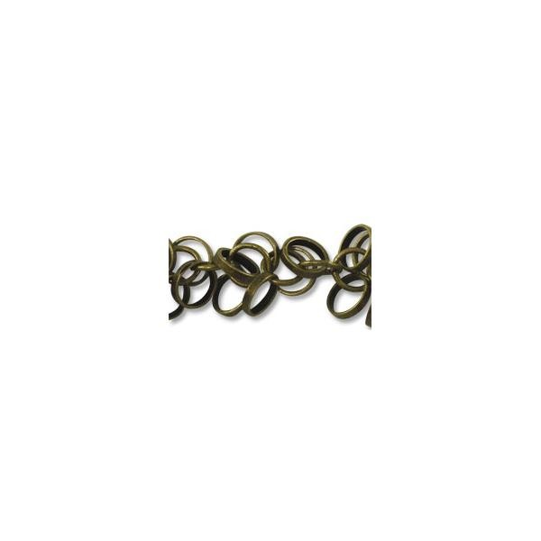 Round Charm Link Chain 5mm Antique Brass Plated (Priced per Foot)