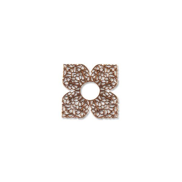 Filigree Clover Connector Antique Copper 42mm (1-Pc)