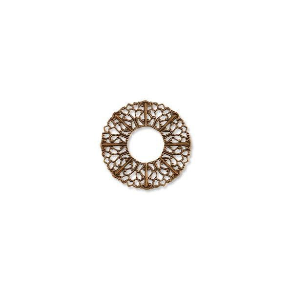 Filigree Donut Connector Antique Copper Plated 37mm (1-Pc)