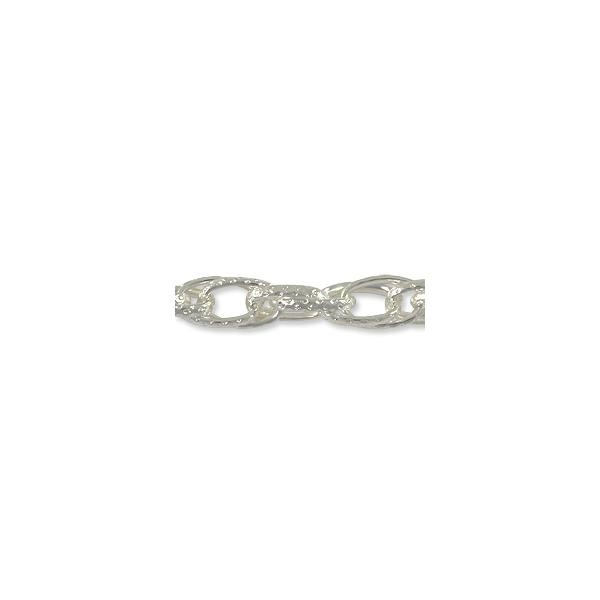 Double Oval Link Chain 15mm Silver Plated (Foot)