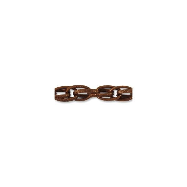 Chain Wide Rope Link 6.5mm Antique Copper Plated (Foot)