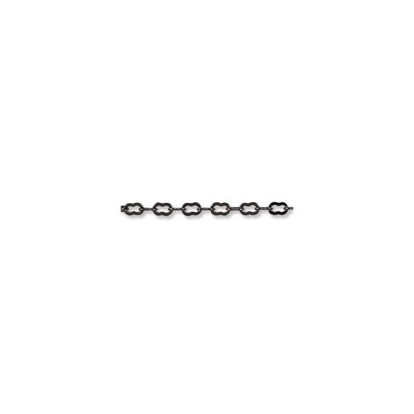 Krinkle Link Chain 4x2mm Gun Metal Plated (Priced per Foot)