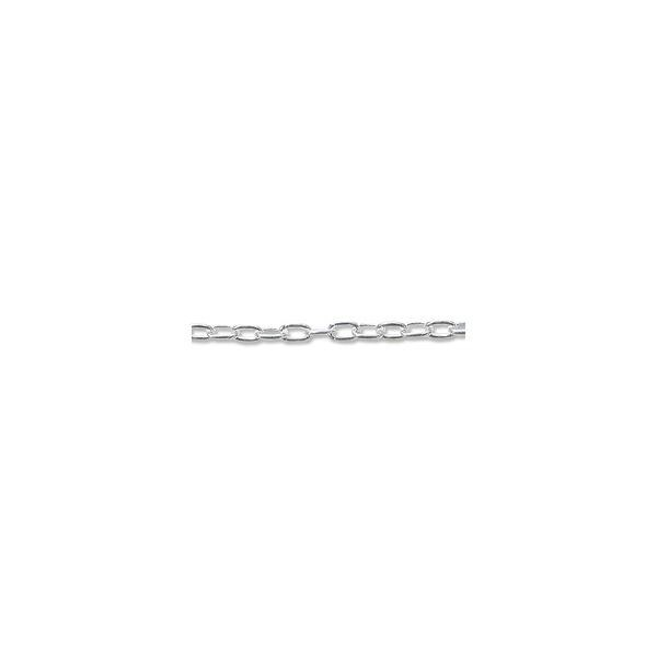 Drawn Cable Link Chain 1.3mm Sterling Silver (Foot)