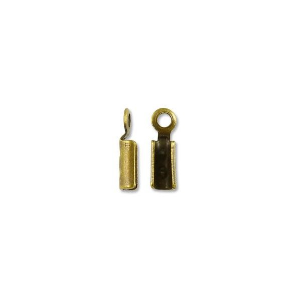 Connector - Fold Over 2x7.5mm Antique Brass Plated (10-Pcs)