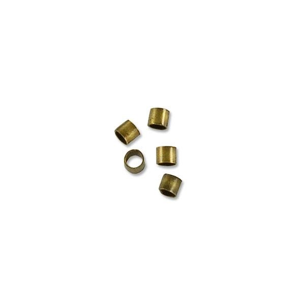 Crimp Tube 2x2mm Seamless Antique Brass Plated (10-Pcs)