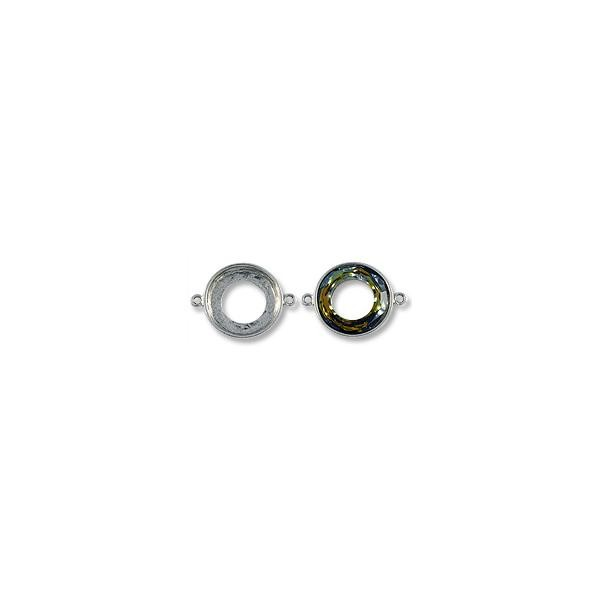 Cosmic Ring Setting 2-Loop 20mm Pewter Antique Silver Plated (1-Pc)