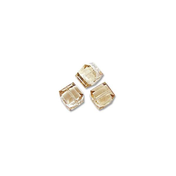 Swarovski Cube Beads 5601 8mm Crystal Golden Shadow (1-Pc)