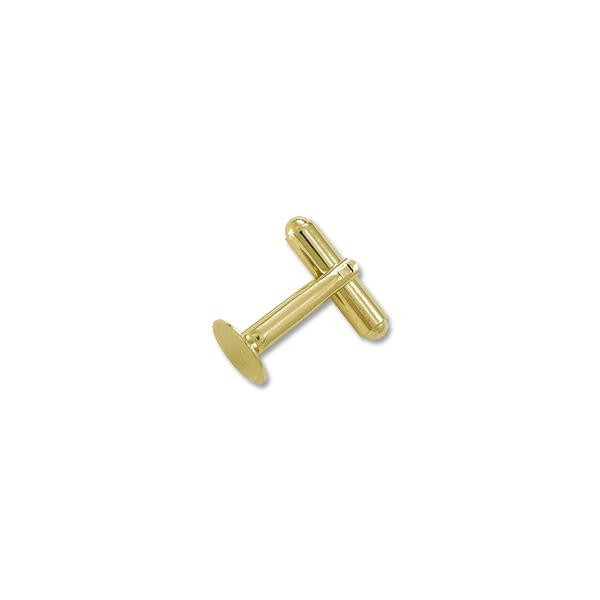 Cufflink 10mm Pad Gold Color