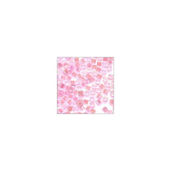 Miyuki Delica Seed Bead 11/0 Transparent Cotton Candy AB (3 Gram Tube)
