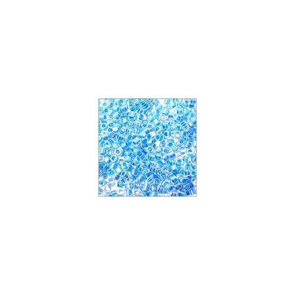 Miyuki Delica Seed Bead 11/0 Color Lined Light Sapphire AB (3 Gram Tube)