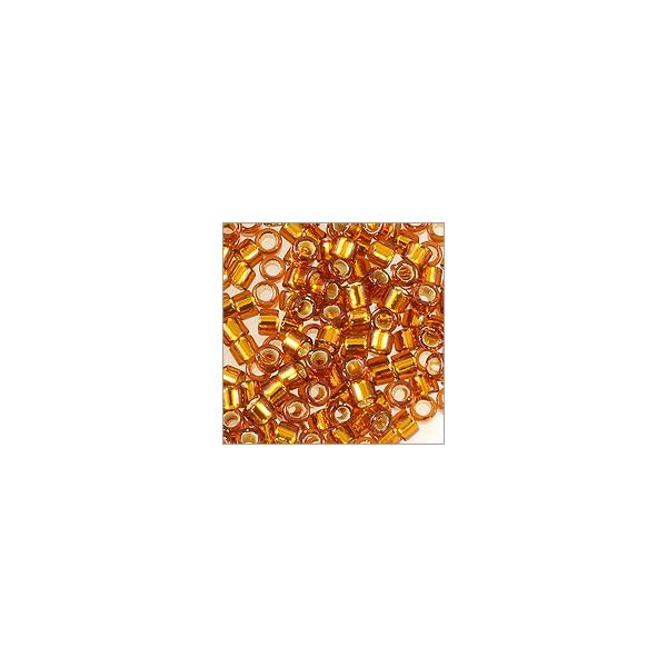 Miyuki Delica Seed Bead 11/0 Silver Lined Amber (3 Gram Tube)