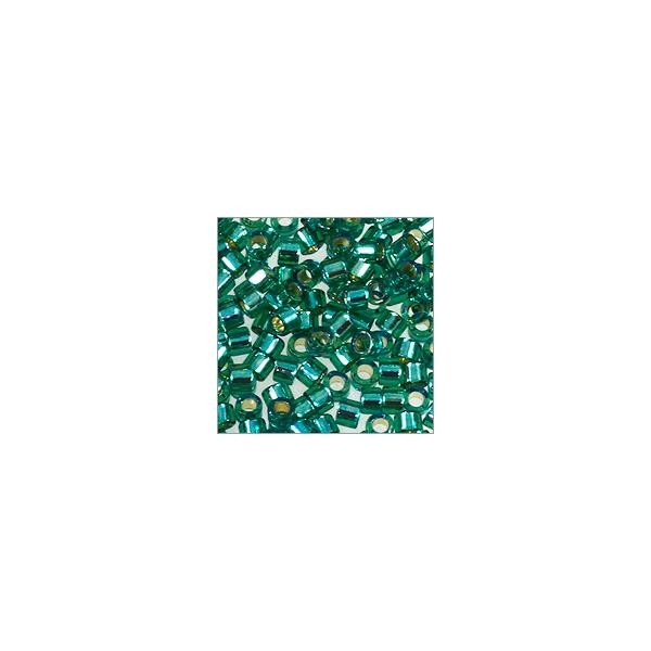 Miyuki Delica Seed Bead 11/0 Silver Lined Teal (3 Gram Tube)