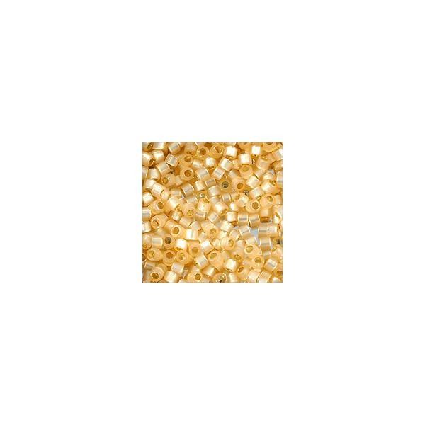 Miyuki Delica Seed Bead 11/0 Silver Lined Butterscotch (3 Gram Tube)