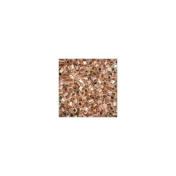 Miyuki Delica Seed Bead Hex Cut 11/0 Copper Lined Crystal (3 Gram Tube)