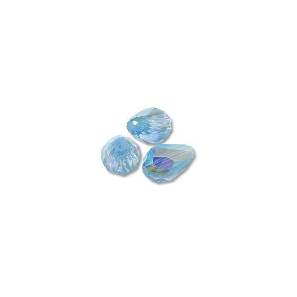 Swarovski Tear Drop Beads 5500 9x6mm Aquamarine AB (1-Pc)