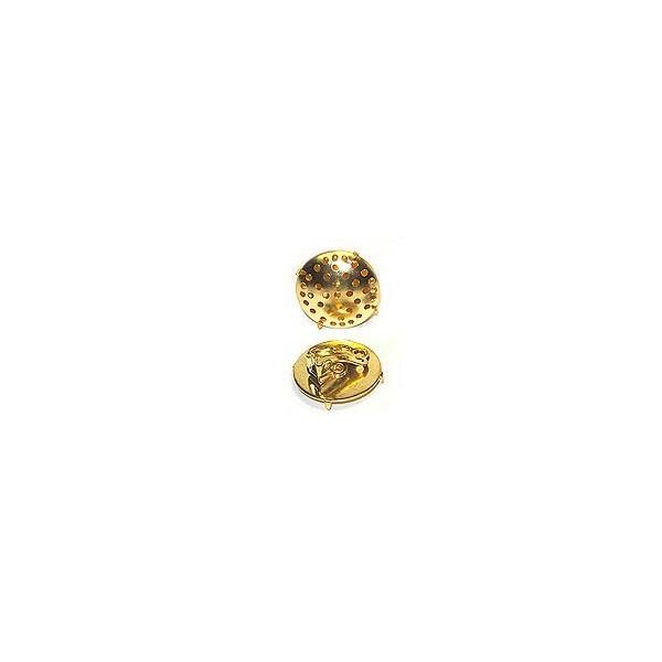 Clip Earring with Screen 22mm Gold Color - 2 pack