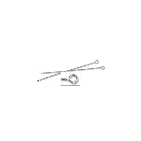 "Eye Pin 2"" 24 Gauge Sterling Silver (1-Pc)"