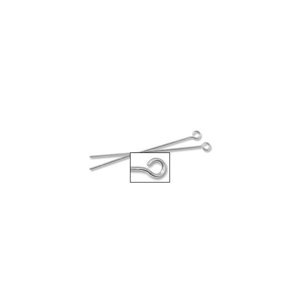 "Eye Pin 1-1/2"" 20 Gauge Sterling Silver (1-Pc)"