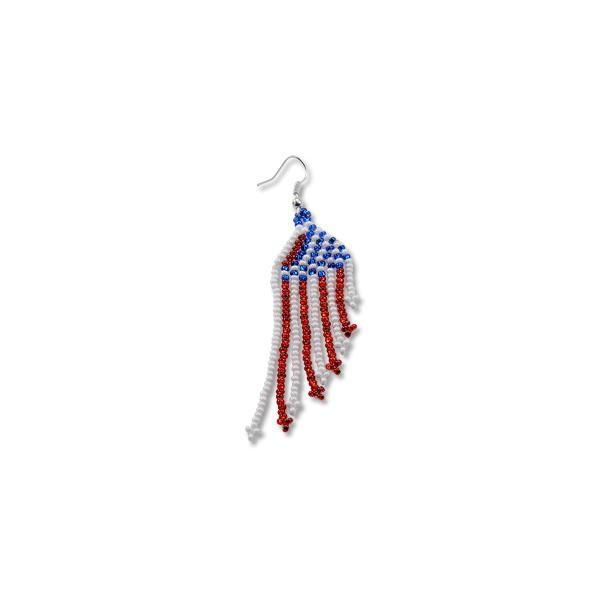 Flag Earrings Red White Blue