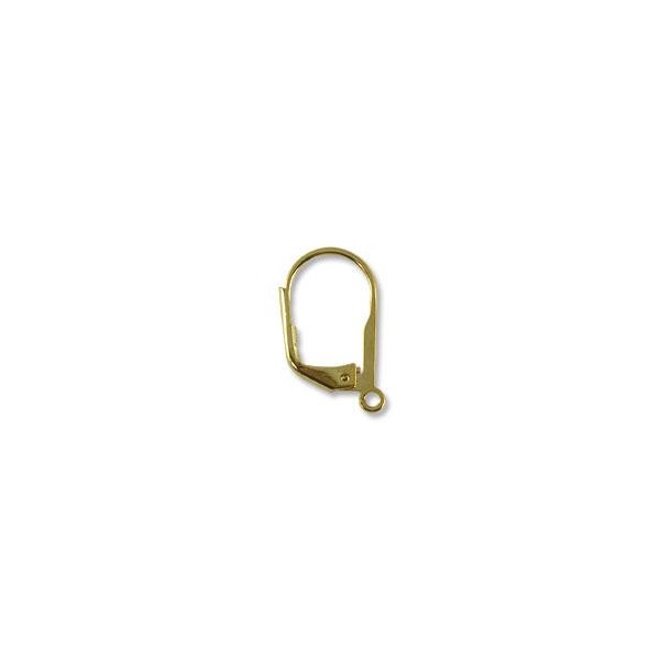 Lever Back - 15mm Gold Plated (2-Pcs)