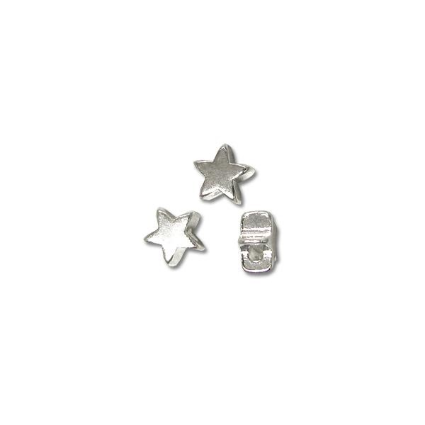 Bead Star 6mm Sterling Silver Plated (12-Pcs)