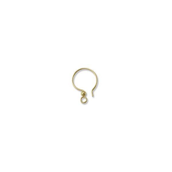 Tierracast Gold Filled Fish Hook Ear Wire W 2mm Bead