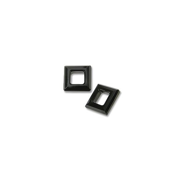 Swarovski Square Ring 4439 14mm Crystal Jet without Foil (1-Pc)