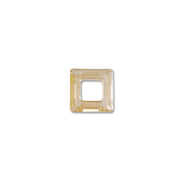 Swarovski Square Ring 4439 14mm Crystal Golden Shadow w/out Foil (1-Pc)