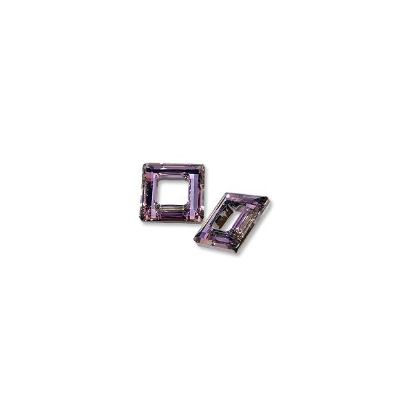 Swarovski Square Ring 4439 14mm Crystal Vitrail Light with Foil (1-Pc)