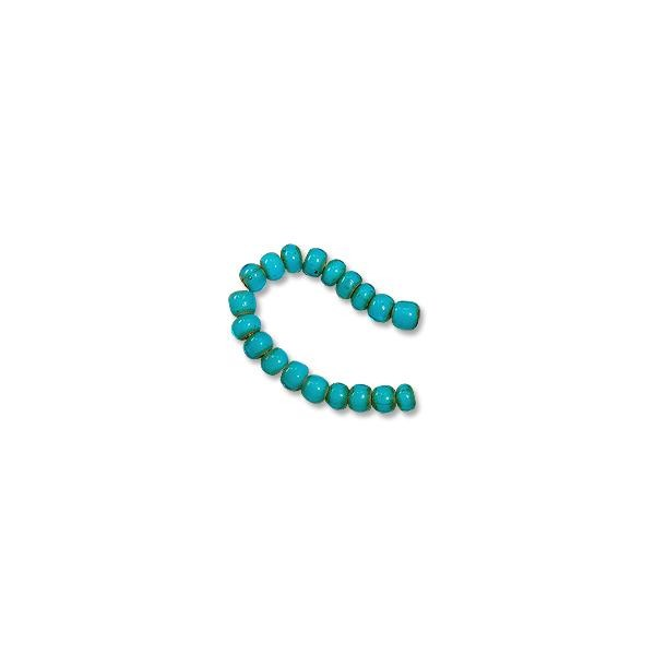 "French White Heart Turquoise Bead 6-7mm (20"" Strand)"