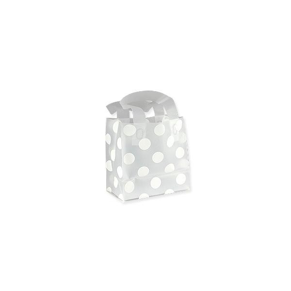 Gift Bag - Frosted Medium White Polka Dots