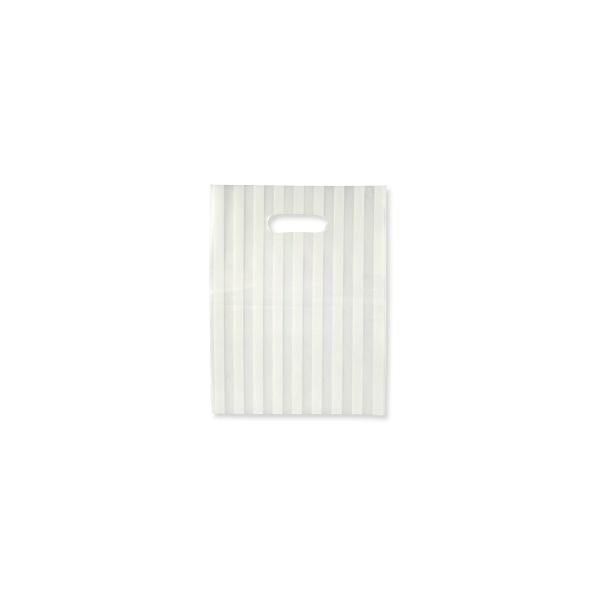 Gift Bag - Frosted White Large Stripes