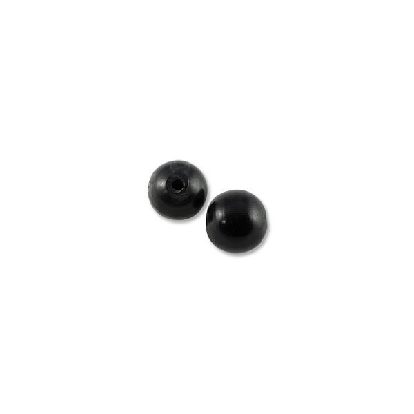 Horn Beads Round Black 20mm (3-Pcs)