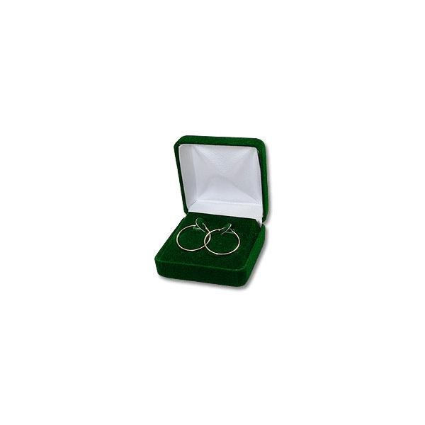 Velour Earring Hoop Box Green