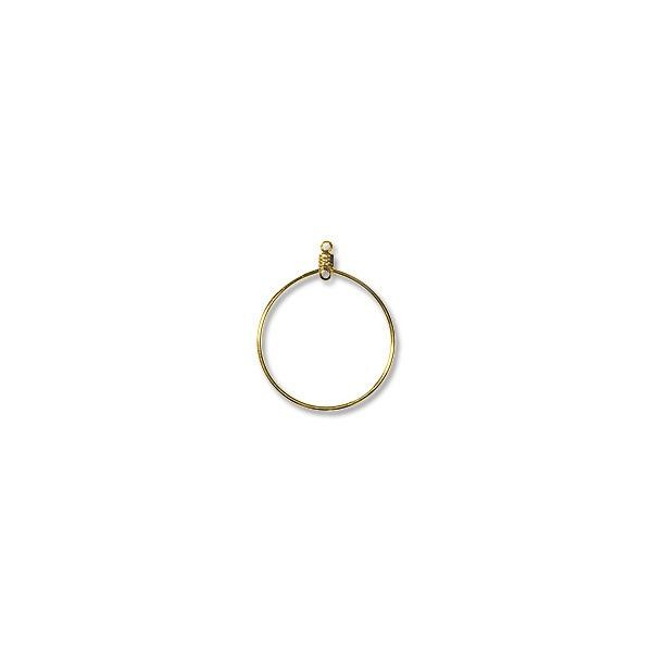 "Hoops with Drop 1"" Gold Plated (10-Pcs)"