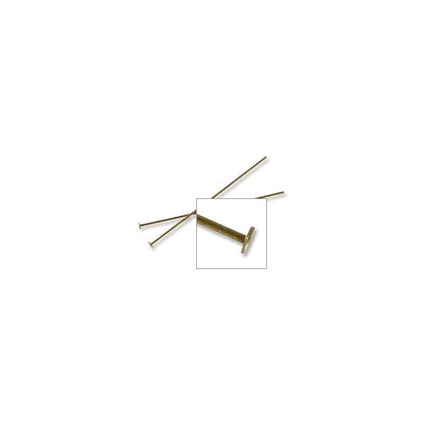 Antique Brass Plated 1-½ inch Head Pin 24 Gauge (10-Pcs)