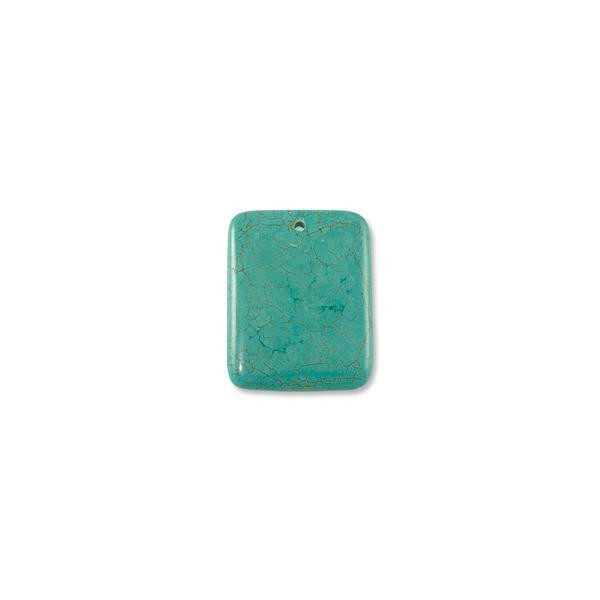 Dyed Howlite Turquoise Pendant 35x45mm
