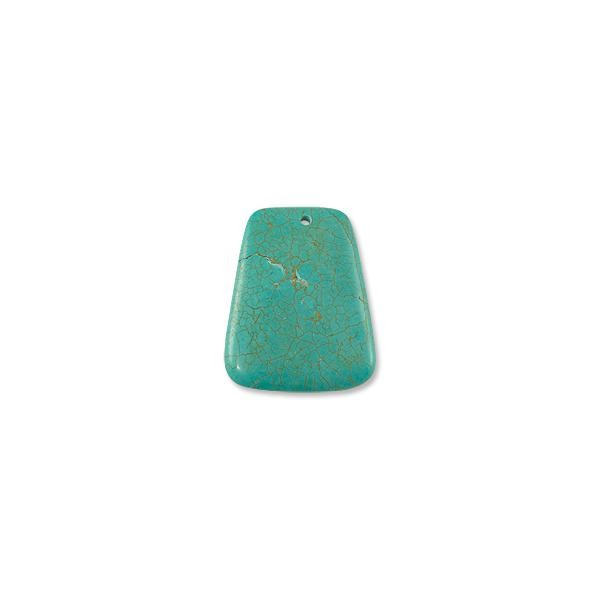 Dyed Howlite Turquoise Pendant 34x44mm