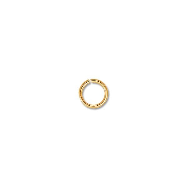 Jump Ring - Open 5mm Gold Plated (100-Pcs)