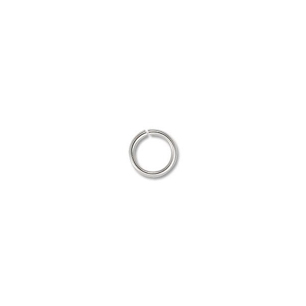 5mm Silver Color Round Open Jump Ring (100-Pcs)