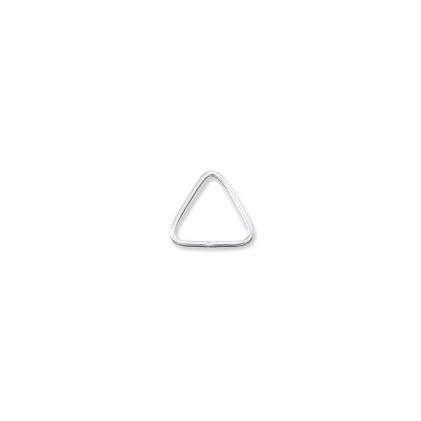 8x8mm Sterling Silver Triangle Open Jump Ring (2-Pcs)