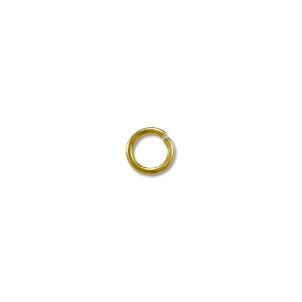 Jump Ring - Open 4mm Light Weight Gold Plated (144-Pcs)