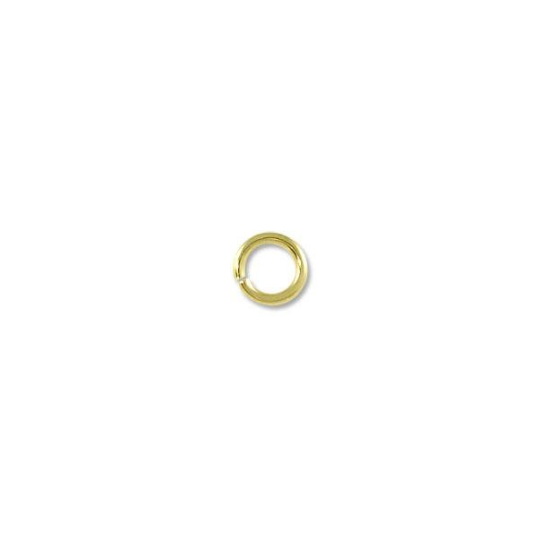 4.5mm Gold Plated Round Open Jump Ring (100-Pcs)