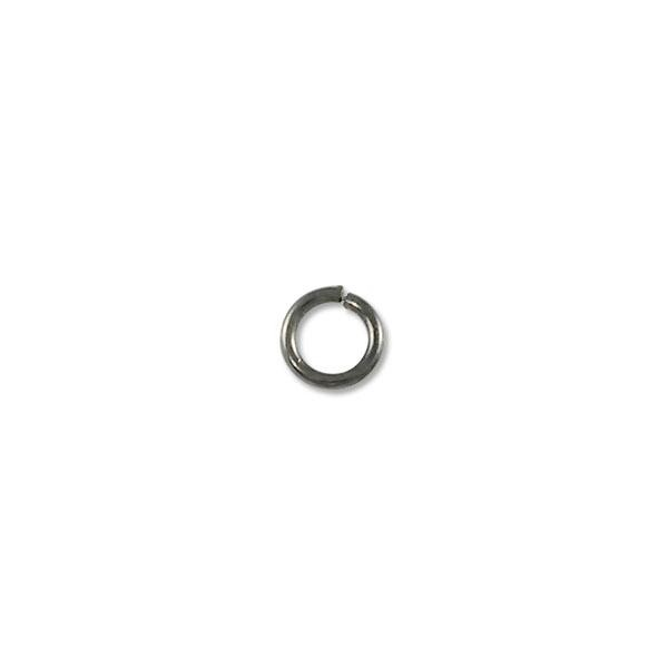 4.5mm Gun Metal Plated Round Open Jump Ring (100-Pcs)