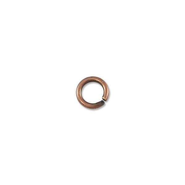 4.5mm Antique Copper Plated Round Open Jump Ring (100-Pcs)