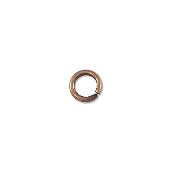 5.5mm Antique Copper Plated Round Open Jump Ring (100-Pcs)