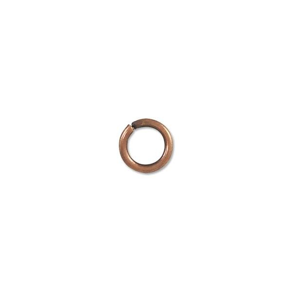 7.5mm Antique Copper Plated Round Open Jump Ring (50-Pcs)