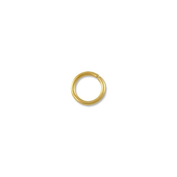 8mm Satin Gold Plated Round Open Jump Ring (20-Pcs)